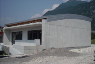 """Sede della Cooperativa """"La Zeje"""" in fase di costruzione a Tolmezzo (Ud)"""
